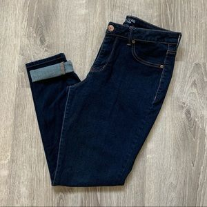 Maurices dark wash mid rise jegging